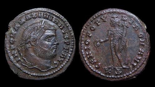 """MAXIMIANUS . AD 286-305 . Follis . """"Genius"""" . Cyzicus"""