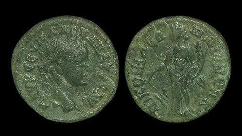 SEVERUS ALEXANDER . BITHYNIA, Nicomedia . AE20 . Nemesis-Dikaiosyne