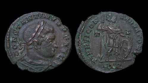 """CONSTANTINE I . AD 306-337 . AE3 . """"Mars, God of War"""" . Rare Variety"""