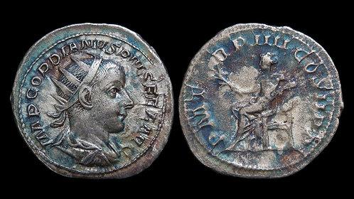 GORDIAN III . AD 238-244 . AR Antoninianus . Apollo, God of Light and Healing