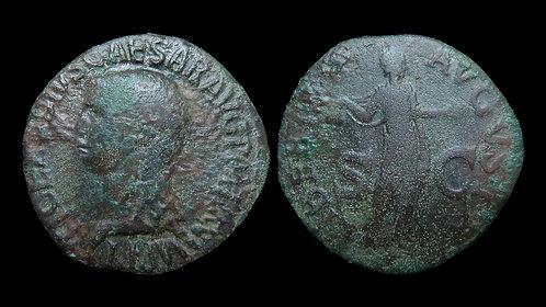 "CLAUDIUS . AD 41-54 . As . ""Libertas"""