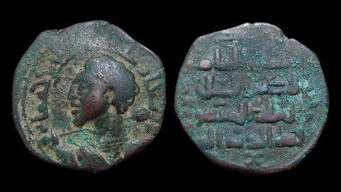 ZENGIDS OF SINJAR . Qutb al-Din Muhammad . AE Dirhem . *Caracalla's portrait?*