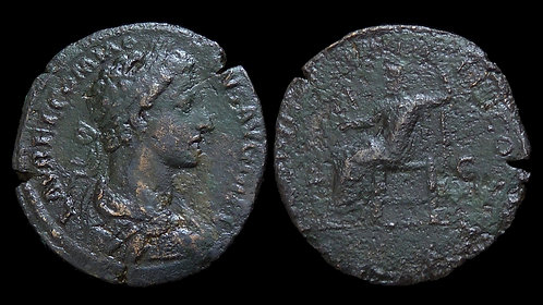 COMMODUS . AD 177-192 . AE Sestertius . Jupiter . *scarce*