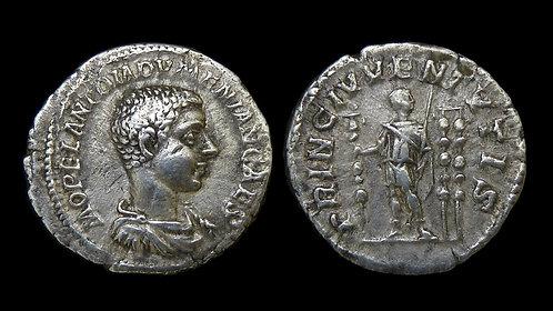 DIADUMENIAN, as Caesar . AD 217-218 . AR Denarius . Son of Macrinus