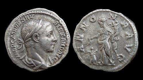 """SEVERUS ALEXANDER . AD 222-235 . Denarius . """"Annona"""""""