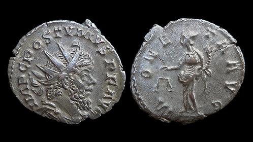 "POSTUMUS, Usurper . AD 260-269 . Antoninianus . ""Moneta"""