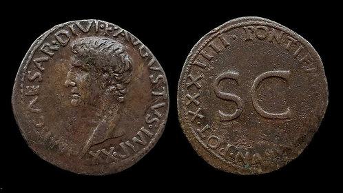 """AUGUSTUS . 27 BC - AD 14 . As . """"SC - Senatus Consulto"""""""