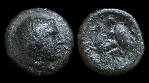 THESSALY, Larissa Kremaste . 4th century BC . AE18 . Achilles . *Rare/Ex BCD*