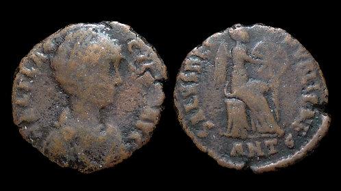 AELIA FLACCILLA, wife of Theodosius I . d. AD 386 . AE4 . Ex Clain-Stefanelli