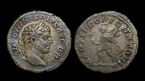 """CARACALLA . AD 198-217 . AR Denarius . """"Mars"""" . Ex Cardinal Meisner Collection"""