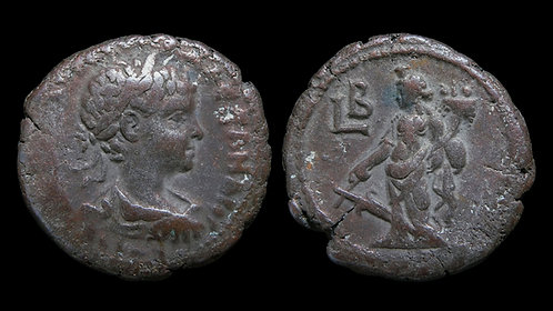 SEVERUS ALEXANDER . EGYPT, Alexandria . Potin Tetradrachm . Tyche