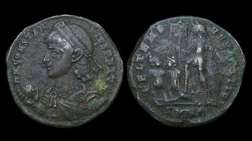 CONSTANTIUS II . AD 337-361 . AE2 . Emperor & Captives