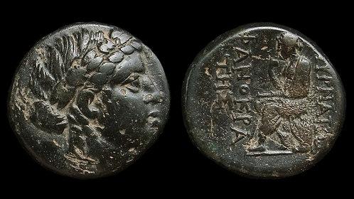 IONIA, Smyrna . 125-115 BC . AE21 . Legendary Greek Poet Homer