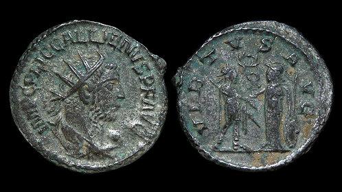 GALLIENUS . AD 253-268 . AE Antoninianus . Emperor & Roma . *Pedigreed*