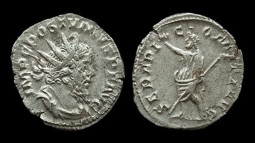 "POSTUMUS, Usurper . AD 260-269 . Antoninianus . ""Serapis"""