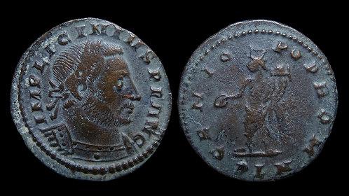 """LICINIUS I . AD 308-324 . Follis . """"Genius standing"""" . London"""