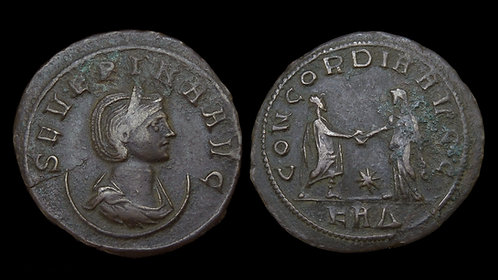 SEVERINA . AD 270-275 . AE Antoninianus . Wife of Emperor Aurelian