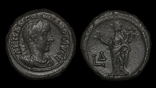 GORDIAN III . EGYPT, ALexandria . Potin Tetradrachm . Ex Hermanubis Collection