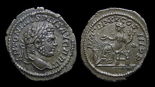 """CARACALLA . AD 198-217 . Denarius . """"Salus"""""""