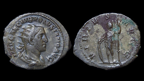 VOLUSIAN . AD 251-253 . AR Antoninianus . VIRTVS AVGG