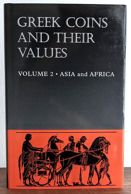 BOOK . GREEK COINS & THEIR VALUES VOL. 2 ASIA & AFRICA (Hardback) - David Sear