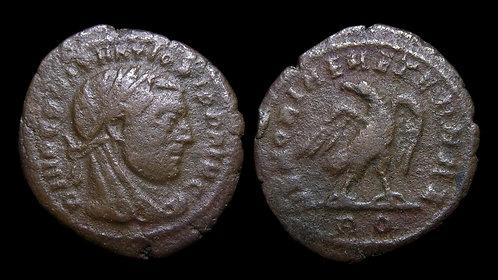 """CONSTANTIUS I, Posthumous . AD 305-306 . 1/4 Follis . """"Eagle"""" . Very Rare"""