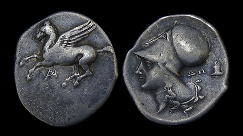 AKARNANIA, Anaktorion . 320-280 BC . AR Stater . 'Colt' of a Corinthian colony
