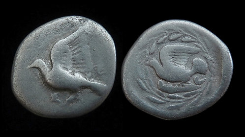 SIKYONIA, Sikyon . 431-400 BC . AR Drachm . Rare . Ex BCD Collection
