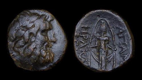 PHRYGIA, Apameia . 100-50 BC . AE21 . Cult Statue of Artemis Anaitis