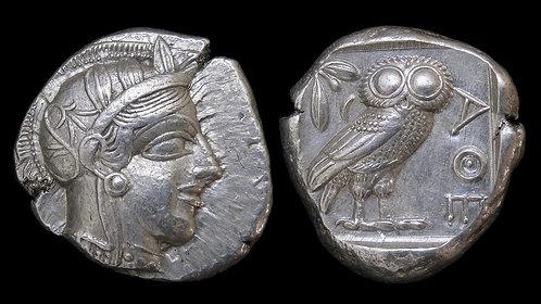 ATTICA, Athens . 454-404 BC . AR Tetradrachm . **Very High Grade Example**