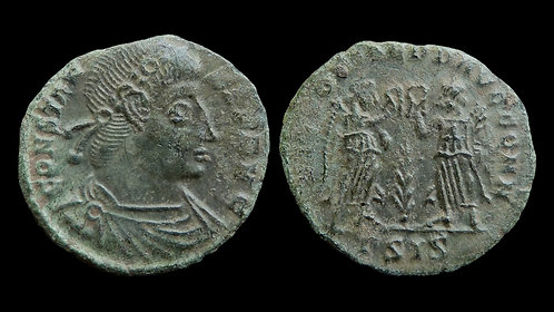 "CONSTANS . AD 337-350 . AE4 . ""Two Victories"""