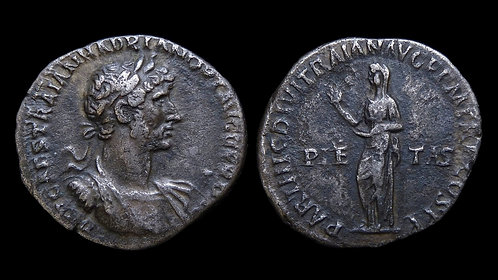 HADRIAN . AD 117-138 . AR Denarius . Scarce early issue with long legends
