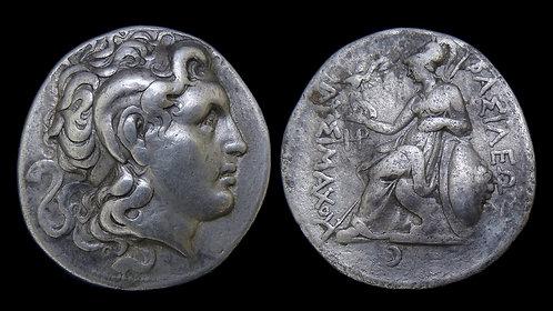 THRACE, Kingdom of . Lysimachos, 306-281 BC . AR Tetradrachm . Deified Alexander