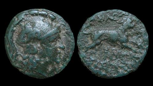 THRACE, Kingdom of . Lysimachos, 306-281 BC . AE18 . *Ex Clain-Stefanelli*