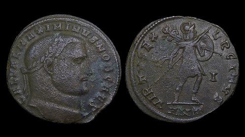 MAXIMINUS II DAIA, as Caesar . AD 305-310 . AE Follis . Virtus . *Scarcer type*
