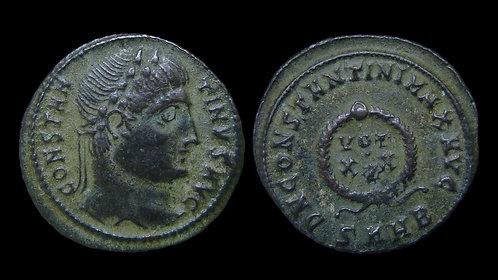 """CONSTANTINE I . AD 306-337 . AE3 . """"VOT XX"""" Heraclea"""