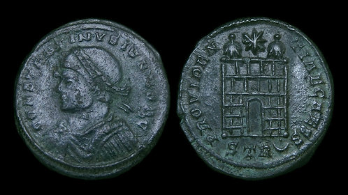 CONSTANTINE II, as Caesar . AD 316-337 . AE3 . Campgate