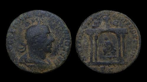 TREBONIANUS GALLUS . SYRIA, Seleucia and Pieria, Antioch . AE29 . Tyche's Temple