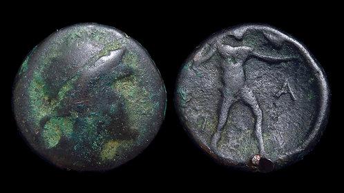 ELIS, Olympia . 145th-147th Olympiad, circa 200-192 BC . AE19 . *Rare*