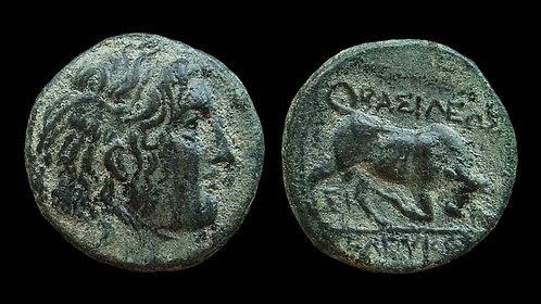 SELEUKID KINGDOM . Seleukos I Nikator, 312-281 BC . AE14 . Medusa or Alexander?