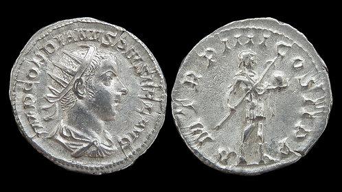 "GORDIAN III . AD 238-244 . Antoninianus . ""Emperor with spear and globe"""