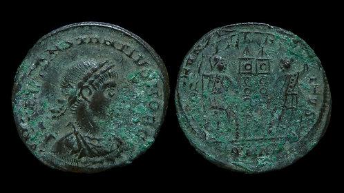 """CONSTANTIUS II, as Caesar . AD 324-337 . AE3 . """"GLORIA EXERCITVS"""" . Nicomedia"""