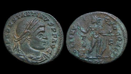 CONSTANTINE I . AD 306-337 . AE3 . Sol, the Sun God . Arles mint