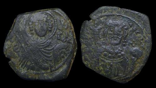 BYZANTINE EMPIRE . Manuel I Comnenus, AD 1143-1180 . AE Tetarteron . St. George