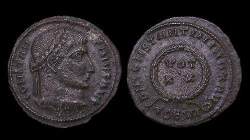 "CONSTANTINE I . AD 306-337 . AE3 . ""VOT XX"" Thessalonica"