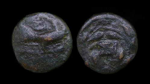 SIKYONIA, Sikyon . 250-200 BC . AE Chalkous . Dove . Ex Joseph J. Copeland Coll.