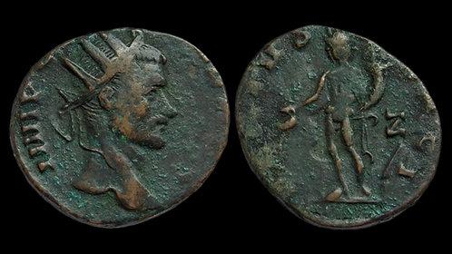 """CLAUDIUS II GOTHICUS . AD 268-270 . Antoninianus . """"Genius standing"""""""