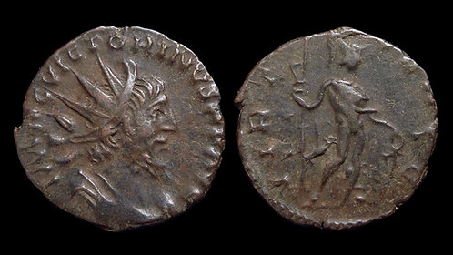 VICTORINUS, Usurper . AD 269-271 . AE Antoninianus . Virtus . Found in Norfolk