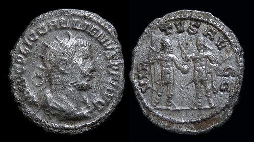 GALLIENUS . AD 253-268 . AE Antoninianus . VIRTVS AVGG
