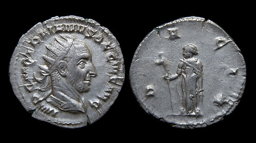 TRAJAN DECIUS . AD 249-251 . AR Antoninianus . Dacia and 'draco' staff